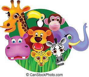 vector wild animal cartoon