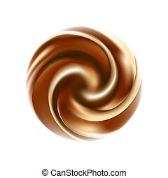 Vector yogurt swirl. coffee ice cream background.