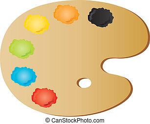 vectors illustration shows the painter's palette