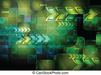 Abstract tech background with arrows