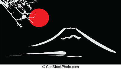 View Mount Fuji Kyoto and Osaka flowers red sun
