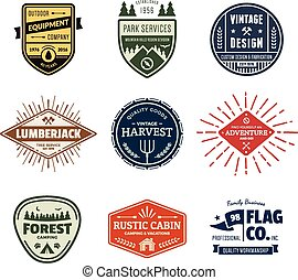 Vintage badge graphics