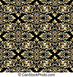 Vintage Baroque seamless pattern.