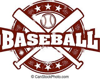 Vintage Baseball Sport Stamp