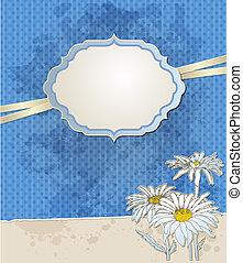 Vintage blue vector background