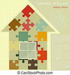 Puzzle house. Concept - Construction