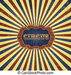 Vintage Circus Background Illustration
