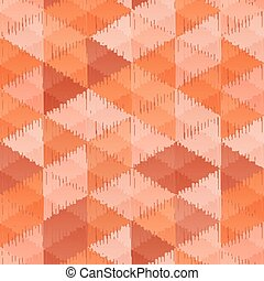 Vintage colors triangles textile seamless pattern