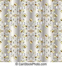 Vintage damask seamless pattern.