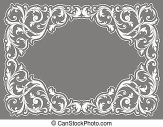 Vintage filigree frame
