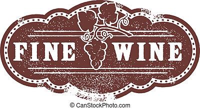 Vintage Fine Wine Stamp
