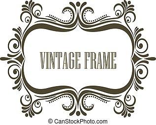 Vintage frame with embellishments
