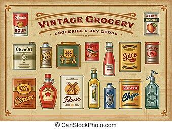 Vintage Grocery Set