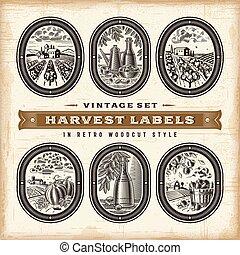 Vintage Harvest Labels Set