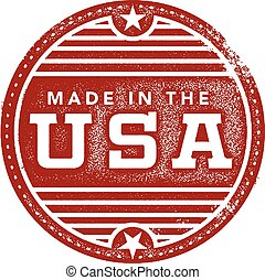 Vintage Made in the USA Stamp