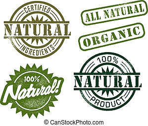 Vintage Natural Stamps