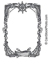 Vintage nautical and marine frame