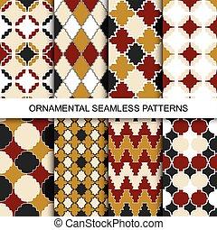 Vintage ornamental patterns - seamless.