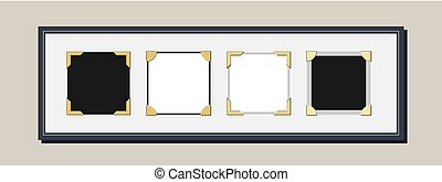 Vintage Photo Frame With Photo Corners Vector