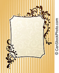 Vintage rectangular sepia frame