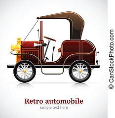 vintage red automobile