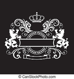 Vintage royal shield