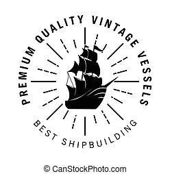 Vintage sailor badge