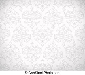 Vintage abstract vector seamless pattern in subtle shades of white and gray colors for wallpaper background design. EPS 10
