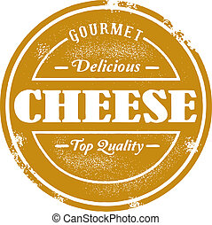 Vintage Style Cheese Stamp