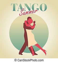 Vintage style design Tango poster
