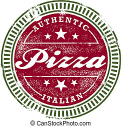 Vintage Style Pizza Stamp