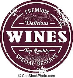 Vintage Style Wine Stamp