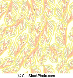 Vintage vector fashion pattern with foliage