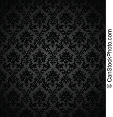 Seamless wallpaper pattern. Colors are easily edited.
