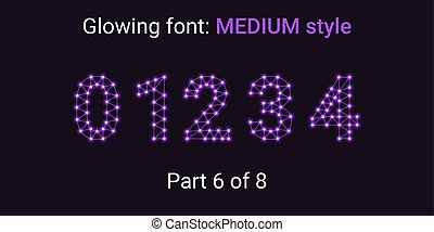 Violet Glowing font in the Outline style