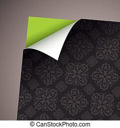 Wallpaper paper curl retro