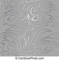 Wallpaper floral on grey background. Vector illustration