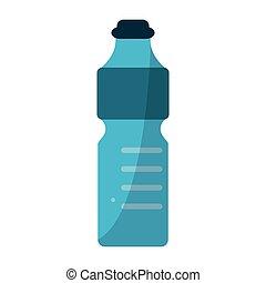 Water bottle isolated cartoon