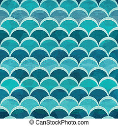 water circle seamless pattern