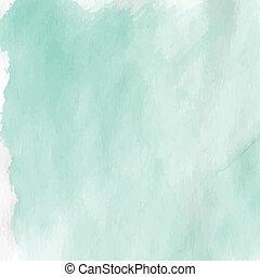 Light green watercolor textured crumpled paper. Vector illustration.