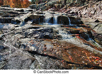 water cascade waterfall at blue spring missouri