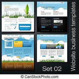 website business templates set 02