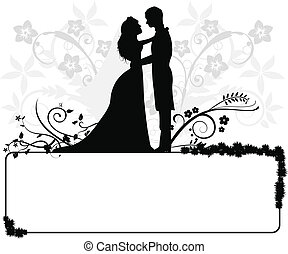 wedding couple silhouettes for wedding, occasions, celebrations and others