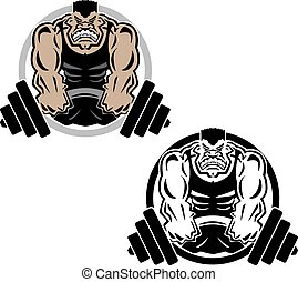 Weightlifting Muscle Fitness Gym Lo