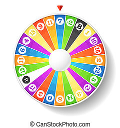 Vector illustration of a wheel of fortune