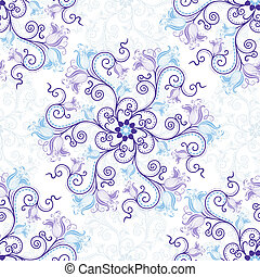 White-blue seamless pattern