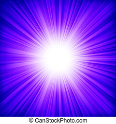 White bursting star. EPS 8
