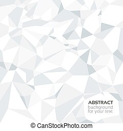 Abstract crumpled paper banner