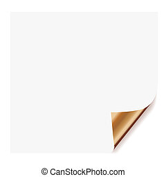 white page curl