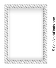White Rope Border. Illustration on white background
